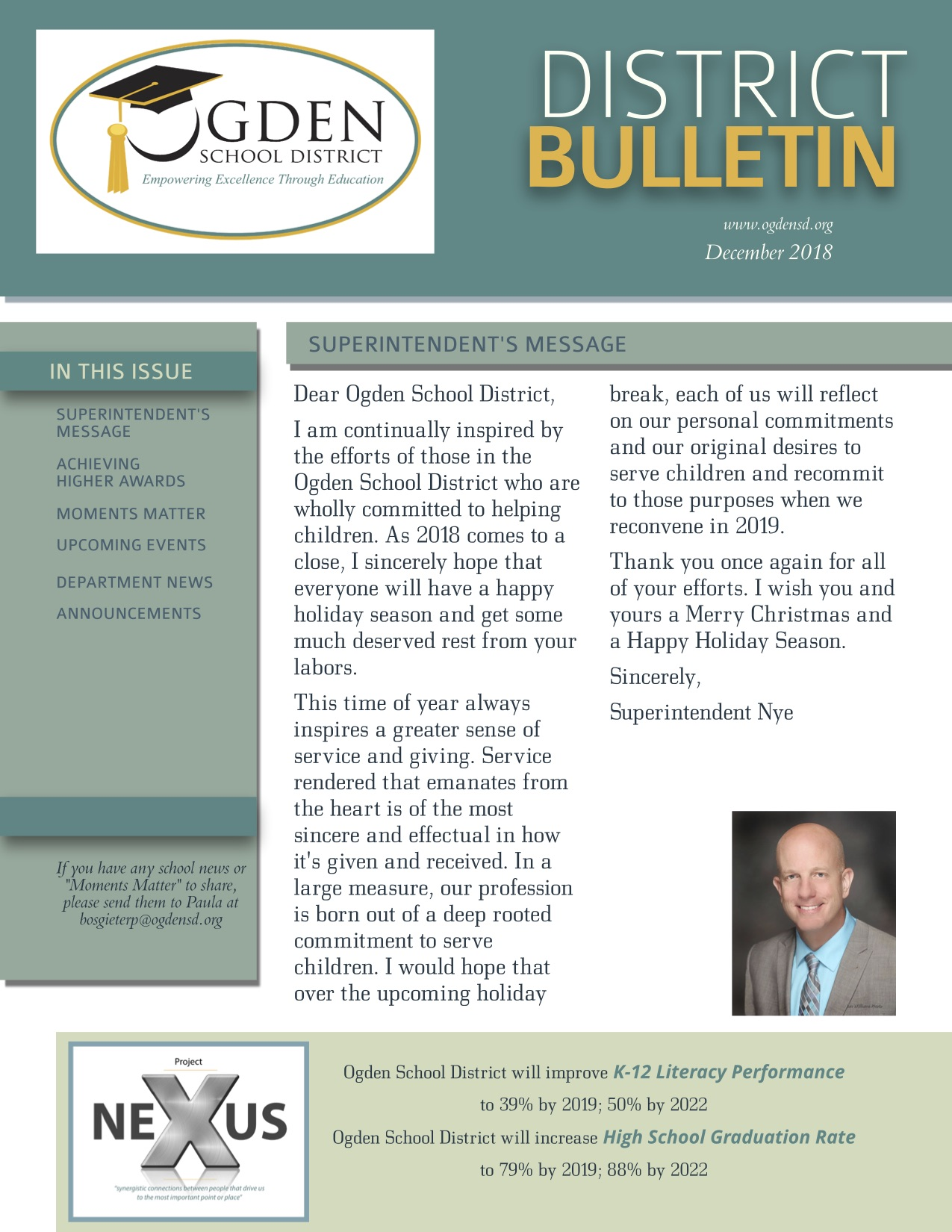 Ogden School District December District Bulletin