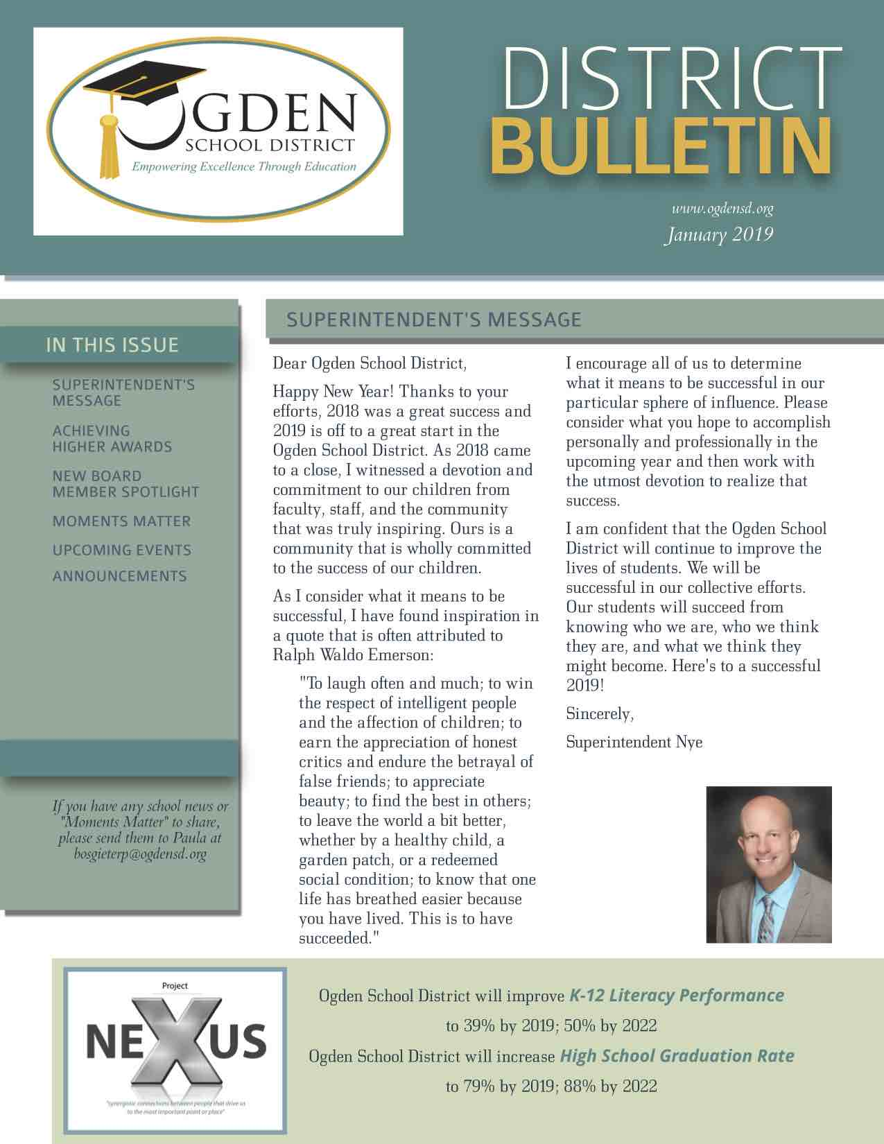 Ogden School District Bulletin, January 2019