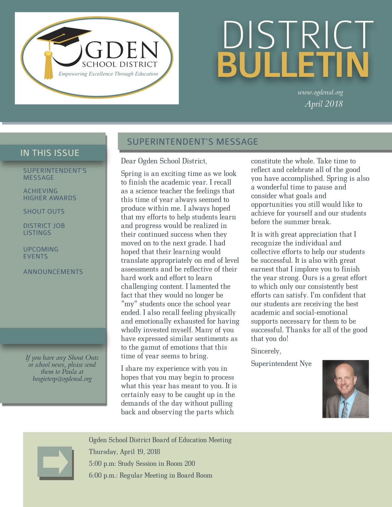 District Bulletin - April