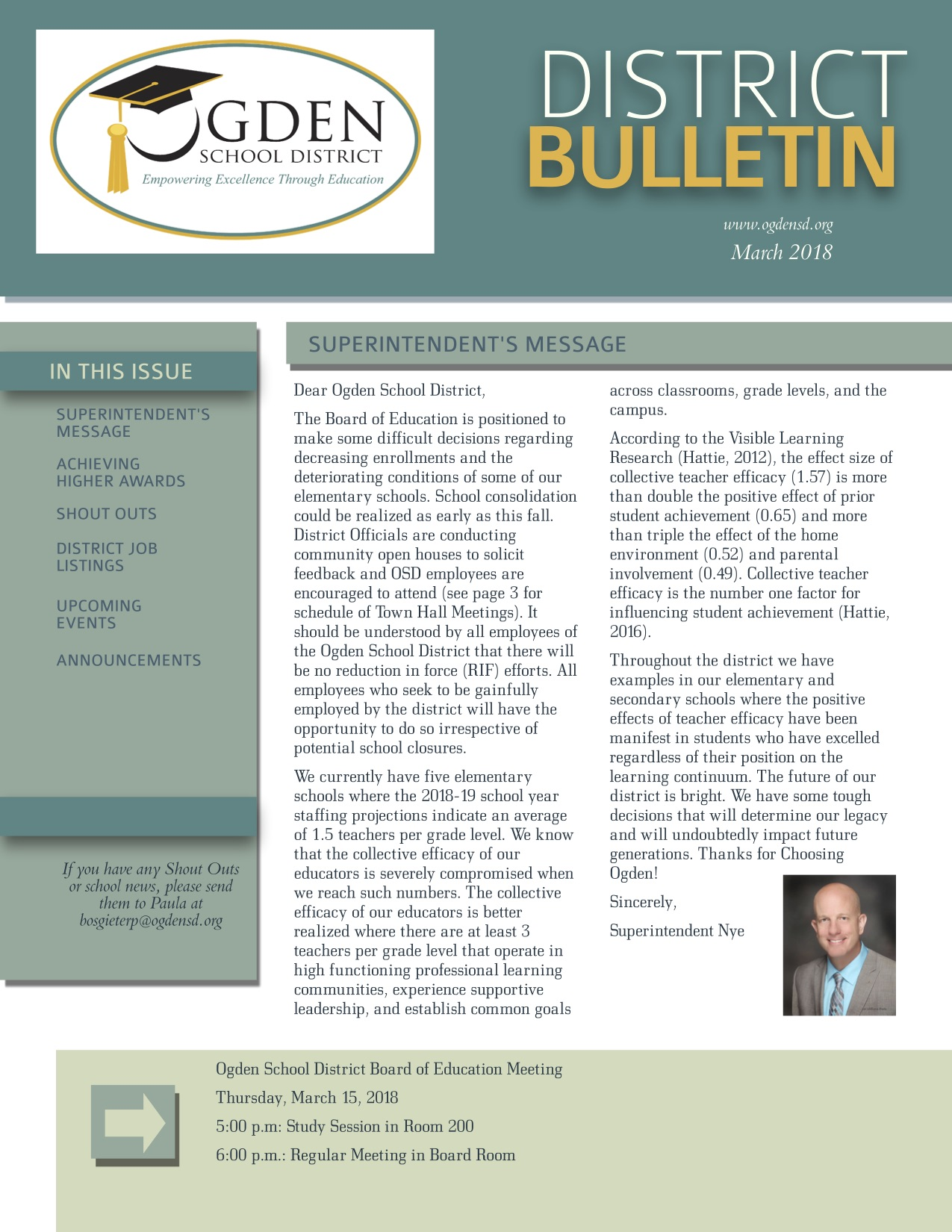 District Bulletin for March