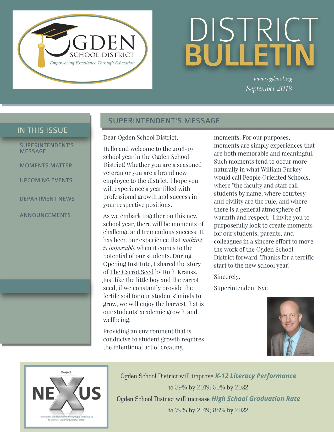 Ogden School District September District Bulletin