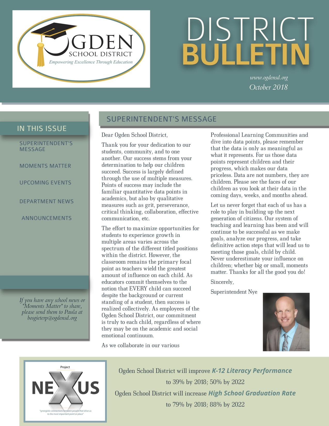 Ogden School District October 2018 District Bulletin