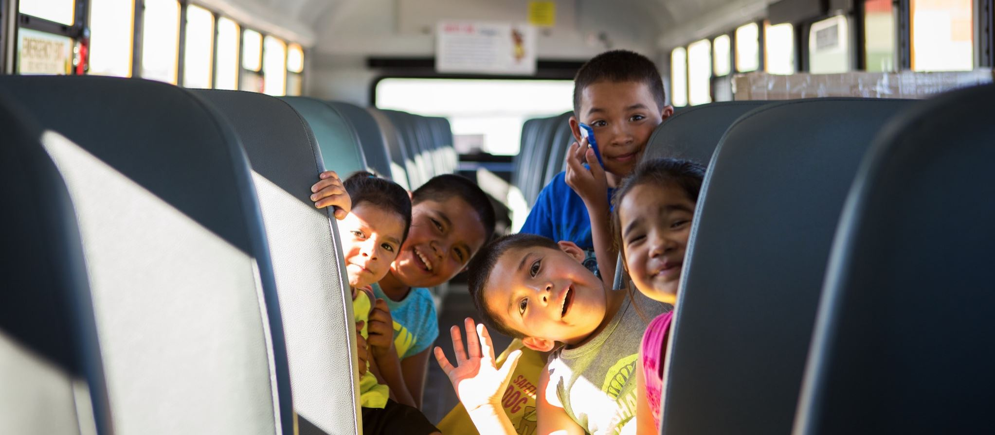 Odyssey Elementary Students On Bus